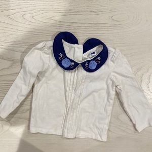 JANIE AND JACK 12 TO 18 MONTHS LONG SLEEVE WHITE